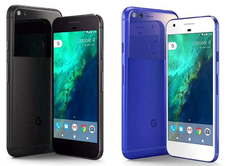 google-pixel-black-and-blue