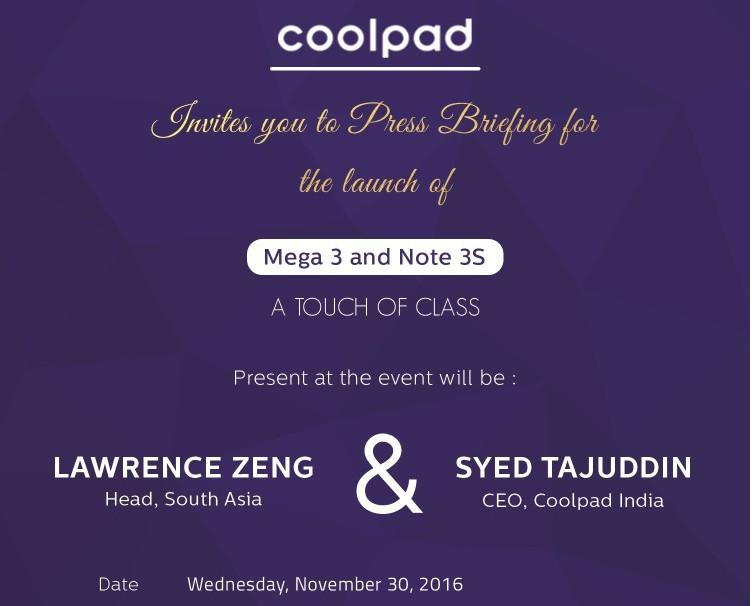 coolpad-mega-3-and-note-3s-launch-invite-nov-30