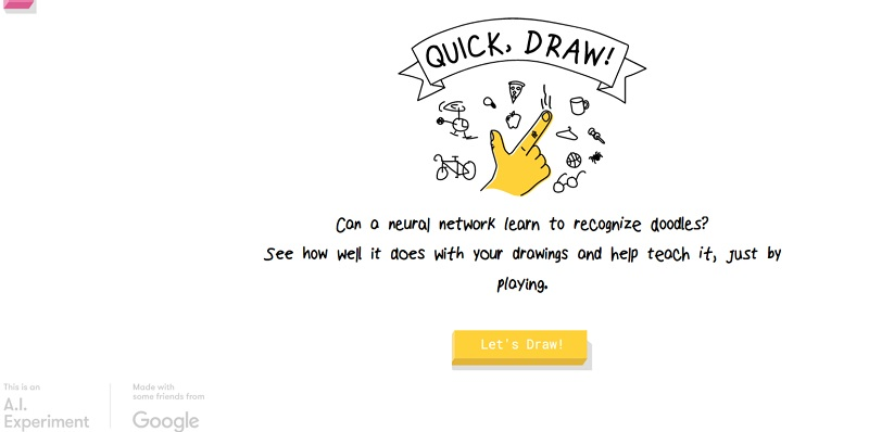 Quick Draw by Google is an AI powered web based doodle game