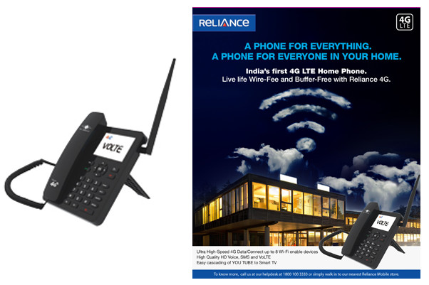Rcom 4G VoLTE-enabled home phone with WiFi hotspot, Android