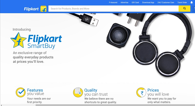 ff4831a2181 Flipkart launches its own accessories store 'SmartBuy'