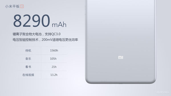 Xiaomi Mi Pad 3 with 8GB RAM, 6 08mm slim metal body