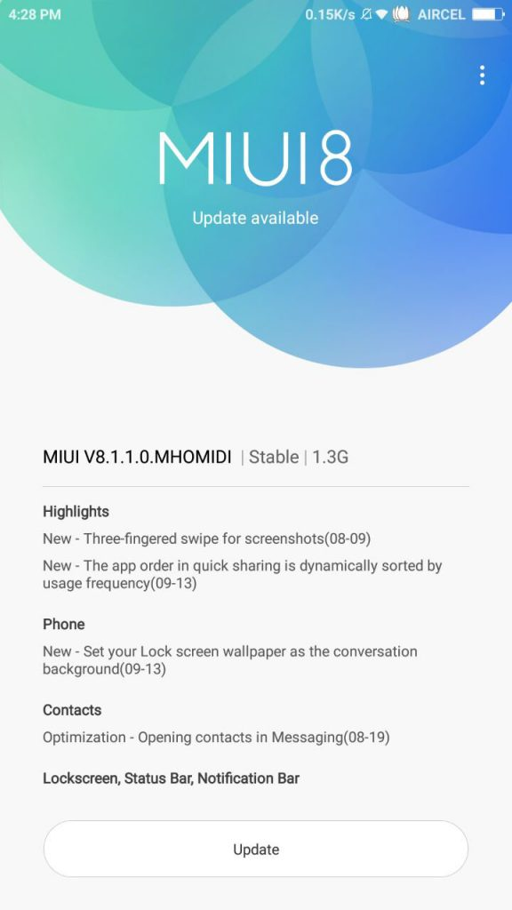 Xiaomi Redmi Note 3 gets MIUI 8 1 1 0 Android 6 0