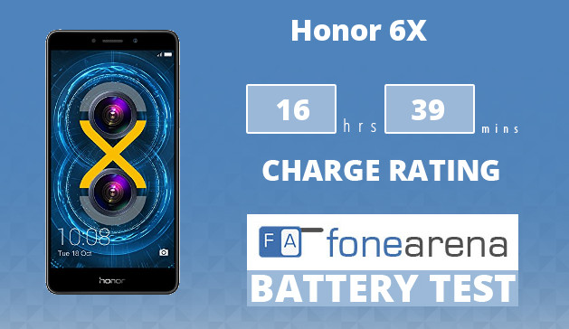 Honor 6X FA One Charge Rating