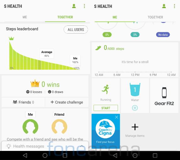 Samsung Gear Fit2 S Health