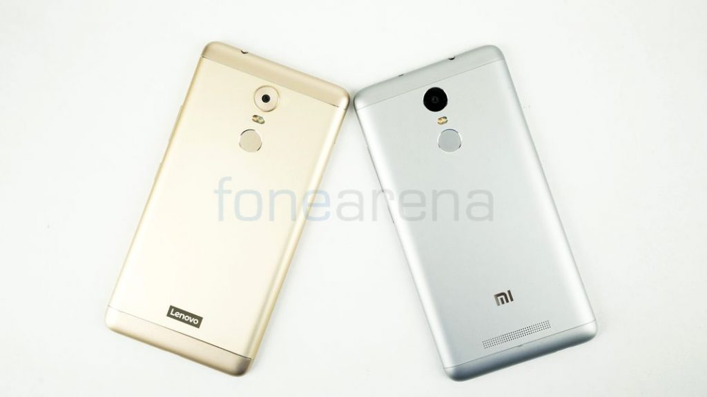 Lenovo K6 Note vs Xiaomi Redmi Note 3