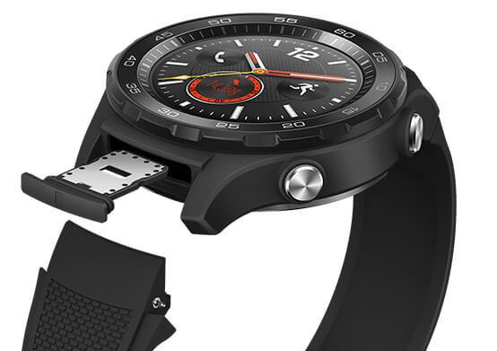 Huawei Watch 2 nano SIM slot