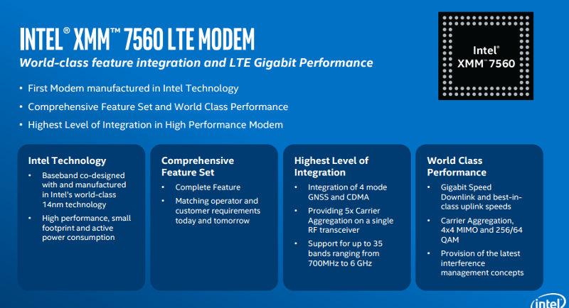 Intel XMM 7560 LTE Modem