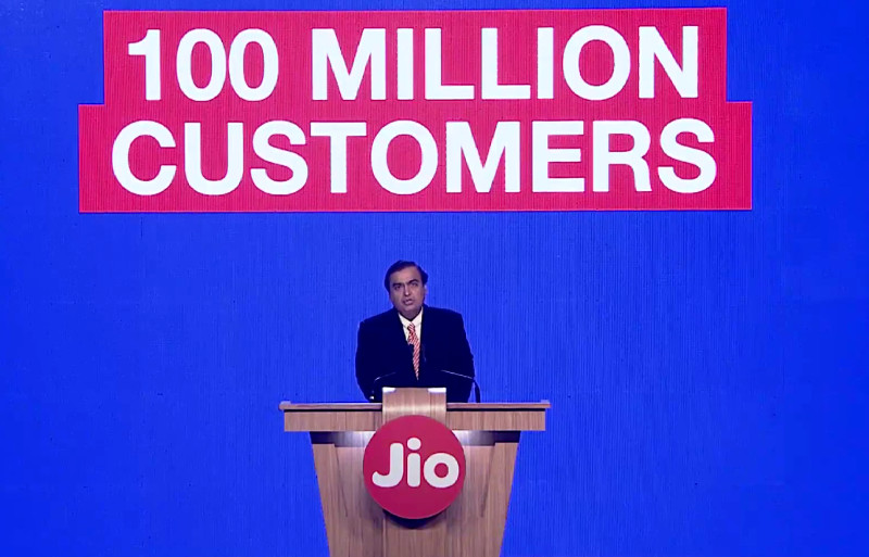 Reliance Jio 100 million