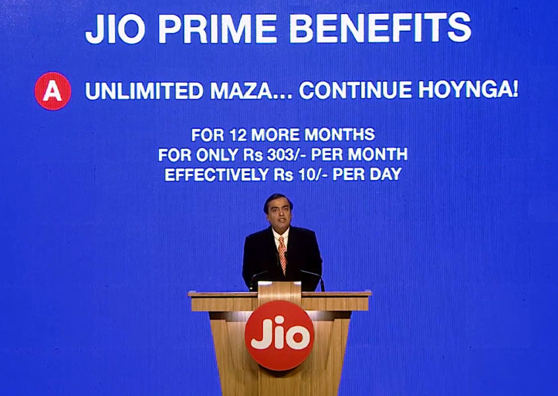 Reliance Jio Prime benefits