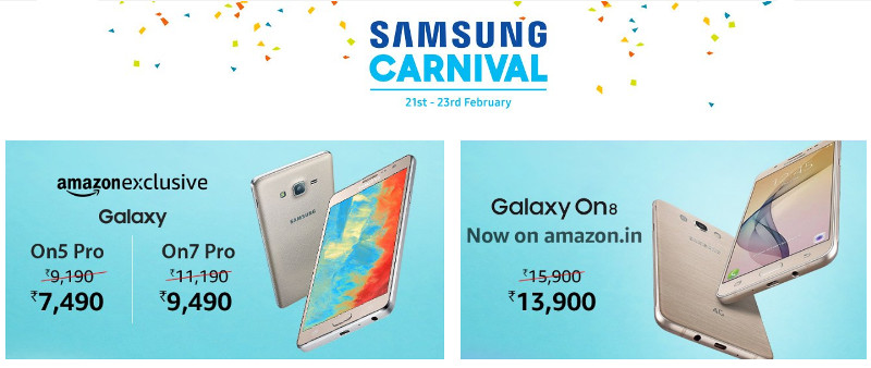 e9a010d11a560f Samsung Carnival on Amazon India from Feb 21 to 23: Offers on smartphones,  LED TVs and more