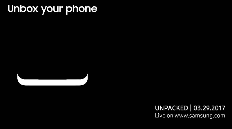 Samsung Galaxy Unpacked 2017 Unbox your phone invite