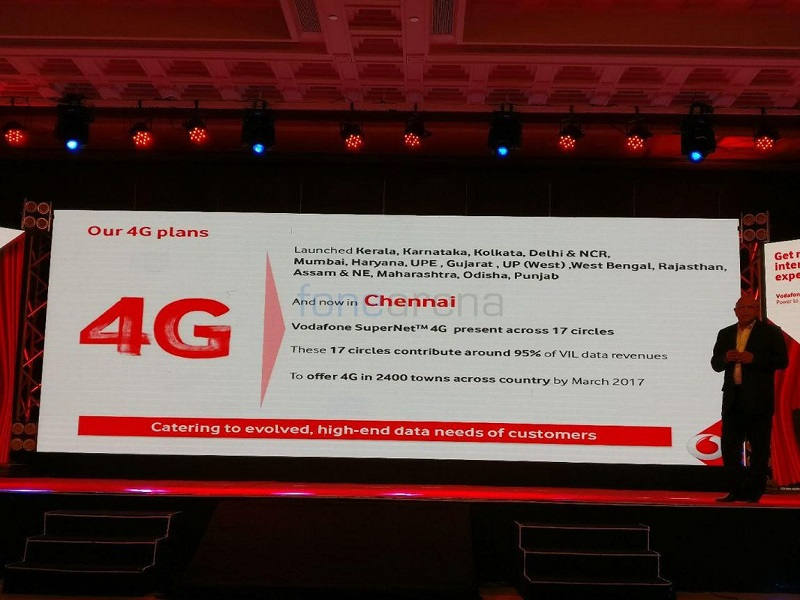 Vodafone launches 4G services in Chennai