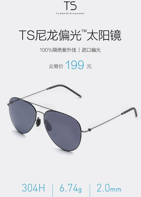 Xiaomi adds Turok Steinhardt Sunglasses to its crowdfunding platform 66ecc585dba
