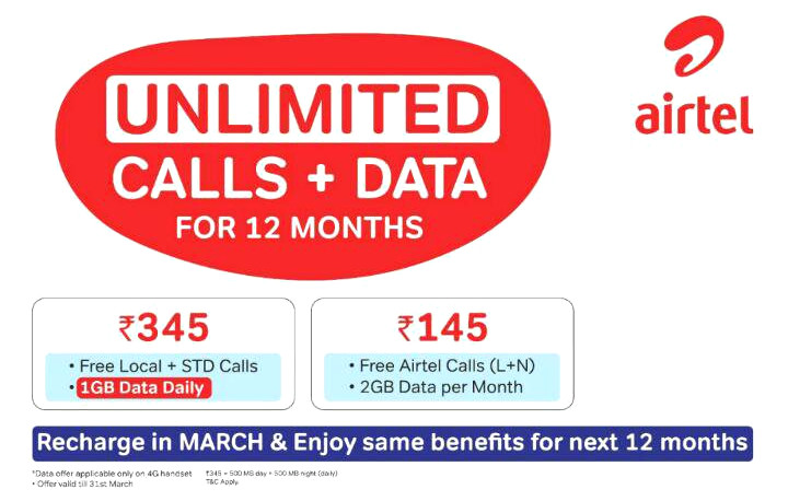 Airtel Unlimited Calling and Data Packs