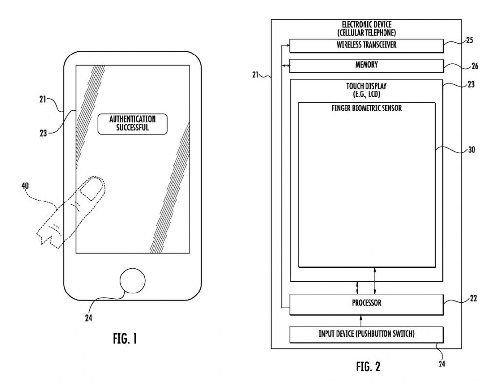 Apple Patent for Touch ID beneath iPhone Display
