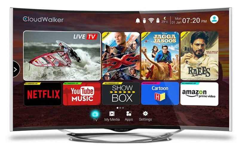 CloudWalker CLOUD TV 55-inch Curved Smart TV