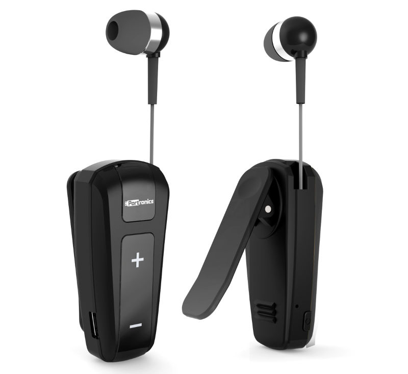 Portronics Harmonics Klip Retractable Bluetooth in-ear earphones launched for Rs. 1999