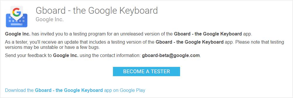 gboard tester