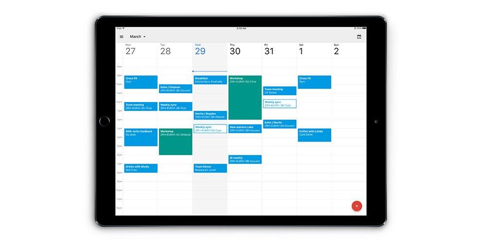 google calendar iPad