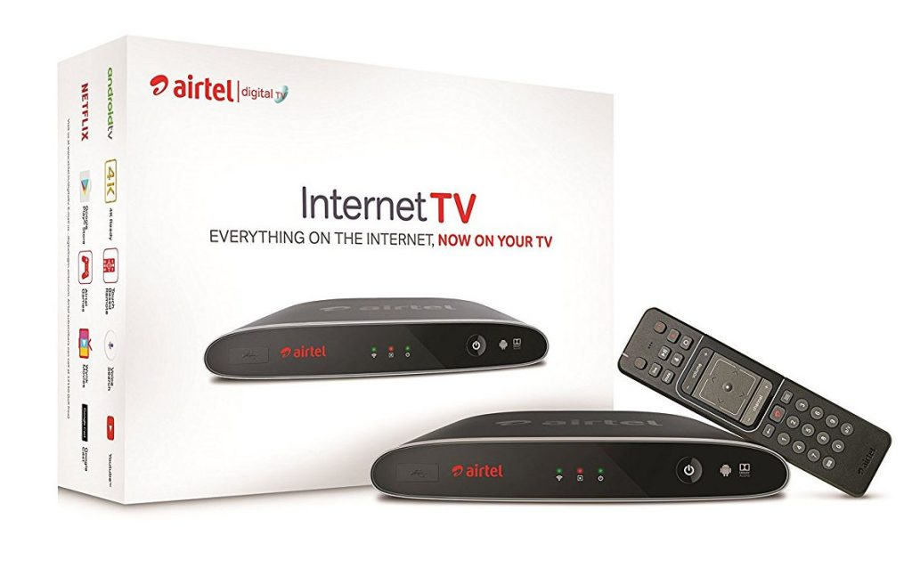 Airtel Internet TV Hybrid DTH and 4K Android TV box launched