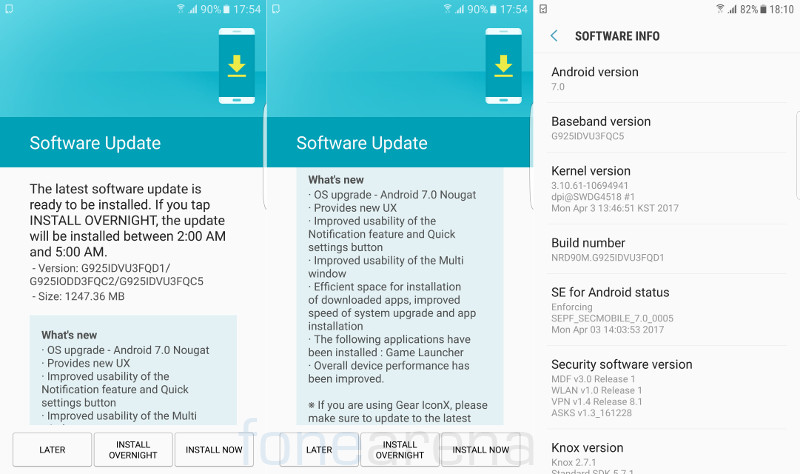 Samsung Galaxy S6, Galaxy S6 edge Android 7.0 Nougat update starts rolling  out in India