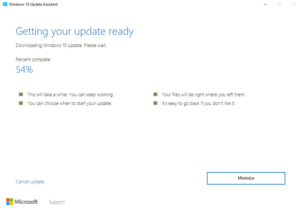 Windows 10 Creators Update - Update Assistant