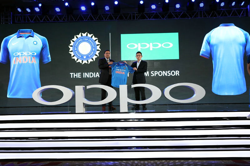Team India Jersy at OPPO F3 launch