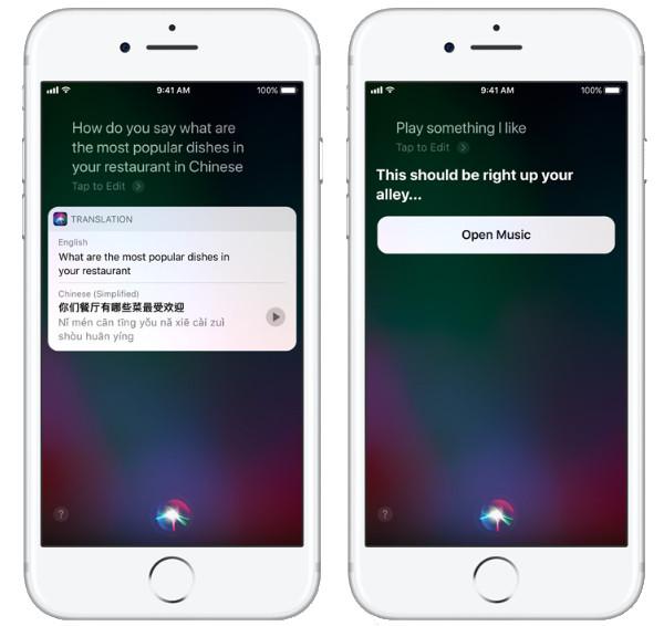 Apple iOS 11 Siri Translation
