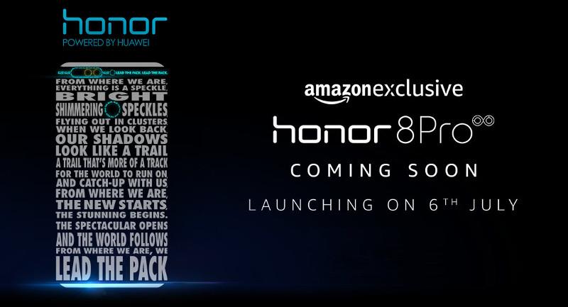 Honor 8 Pro July 6 India launch invite