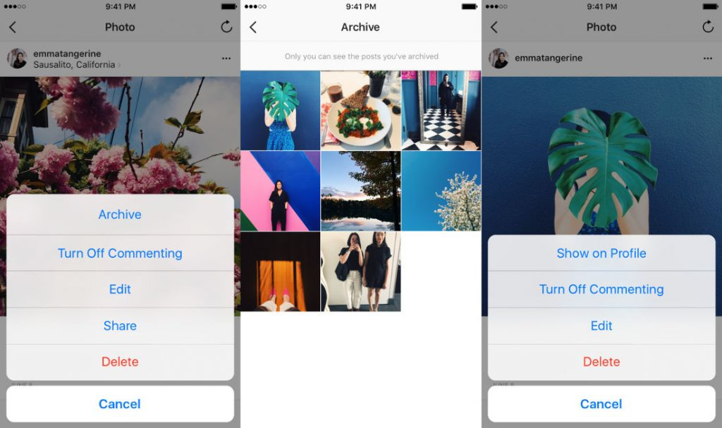Instagram's archive option to temporarily hide posts is now