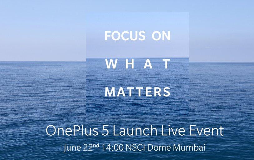 OnePlus 5 India launch invite