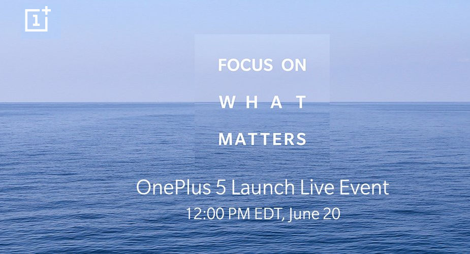 OnePlus 5 announcement invite