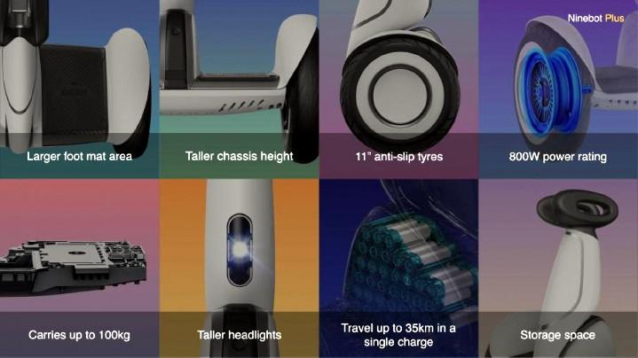 Xiaomi Mi Ninebot Plus features