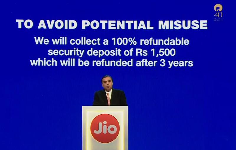 JioPhone deposit