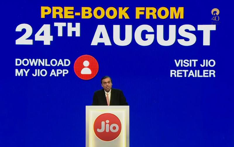 JioPhone pre-booking date