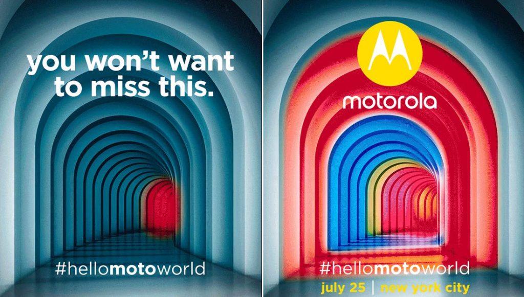 Motorola July 25 New York event invite