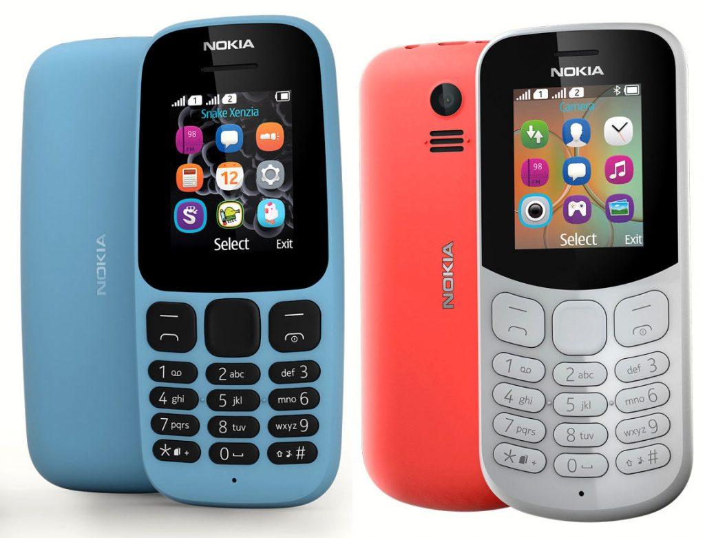 Nokia 105 and Nokia 130 2017