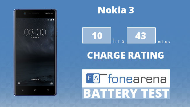Nokia 3 FA One Charge Rating