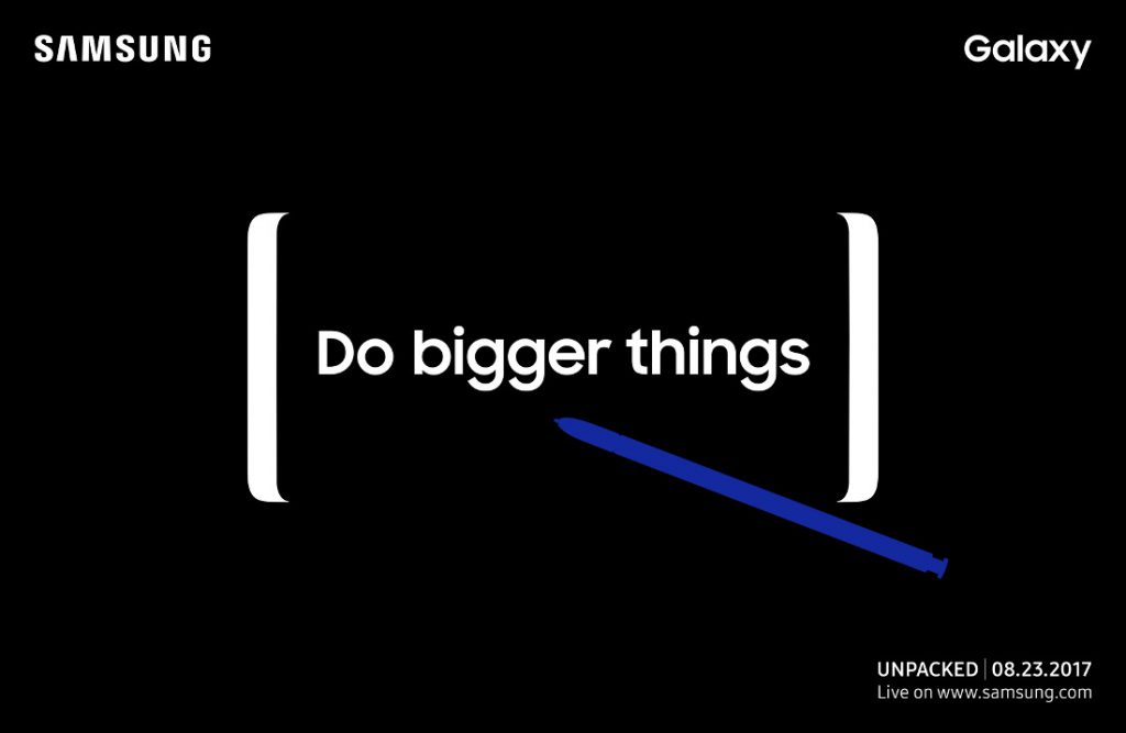 Samsung Galaxy Note8 Unpacked August 23 invite