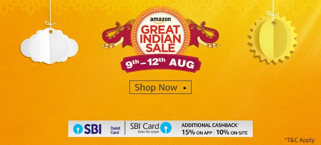 Amazon Great Indian Sale Aug 9 to 12