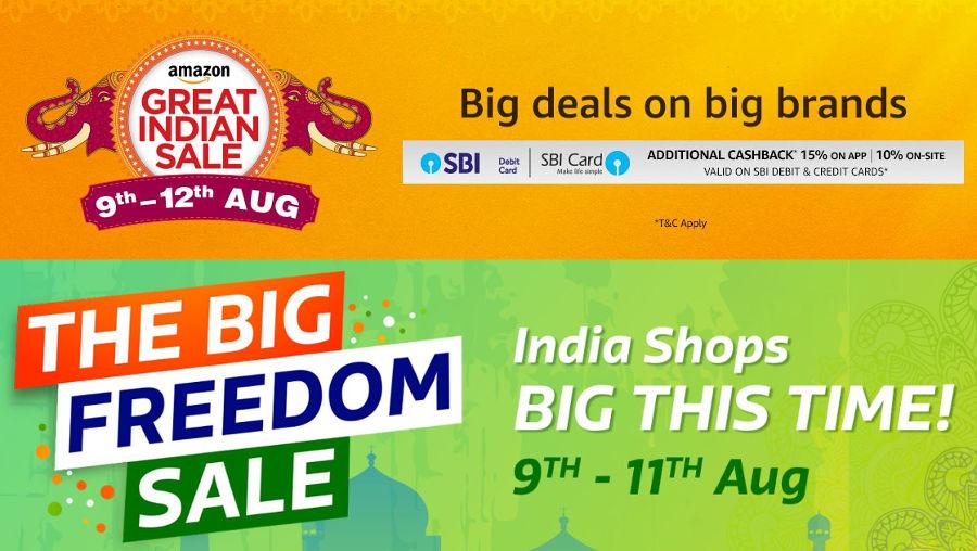 Amazon Great Indian Sale, Flipkart The Freedom Sale Aug 9