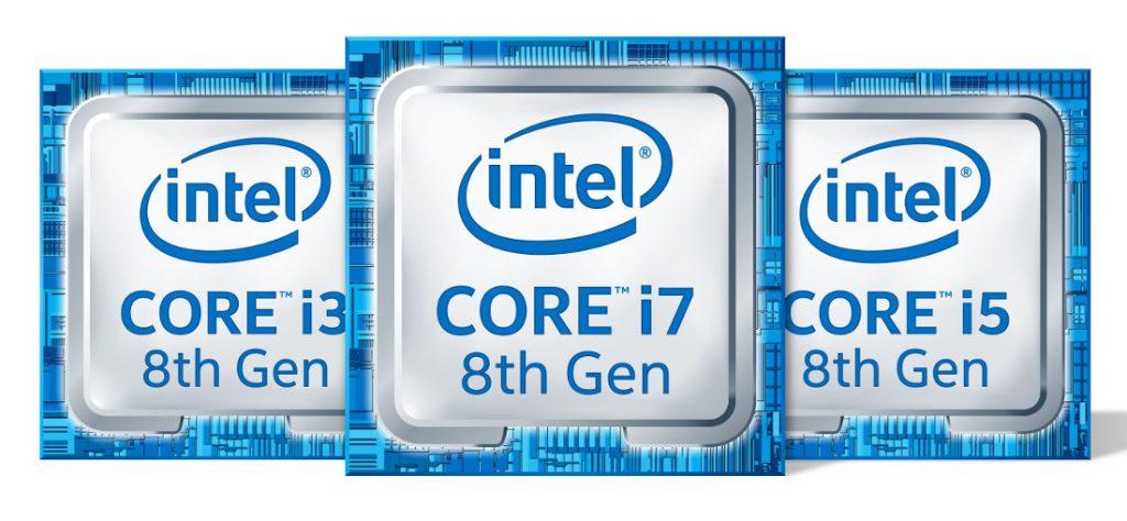 Intel 8th Generation Core i3, i5 and i7