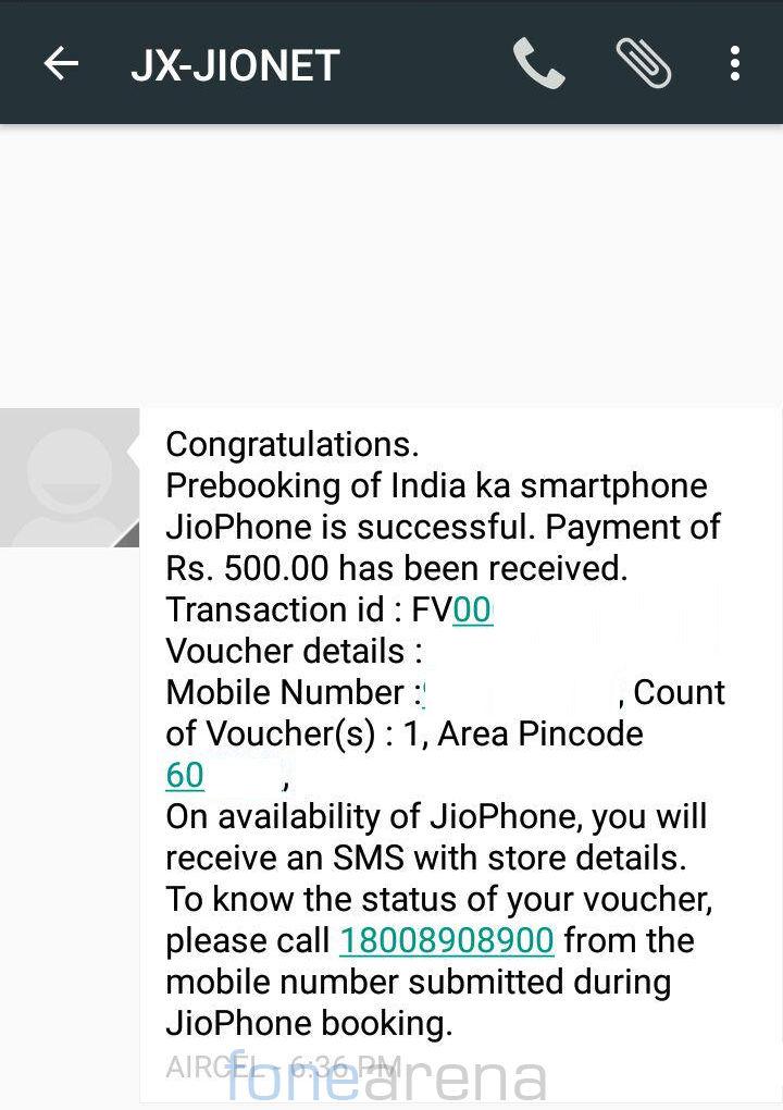 JioPhone Prebooking successful