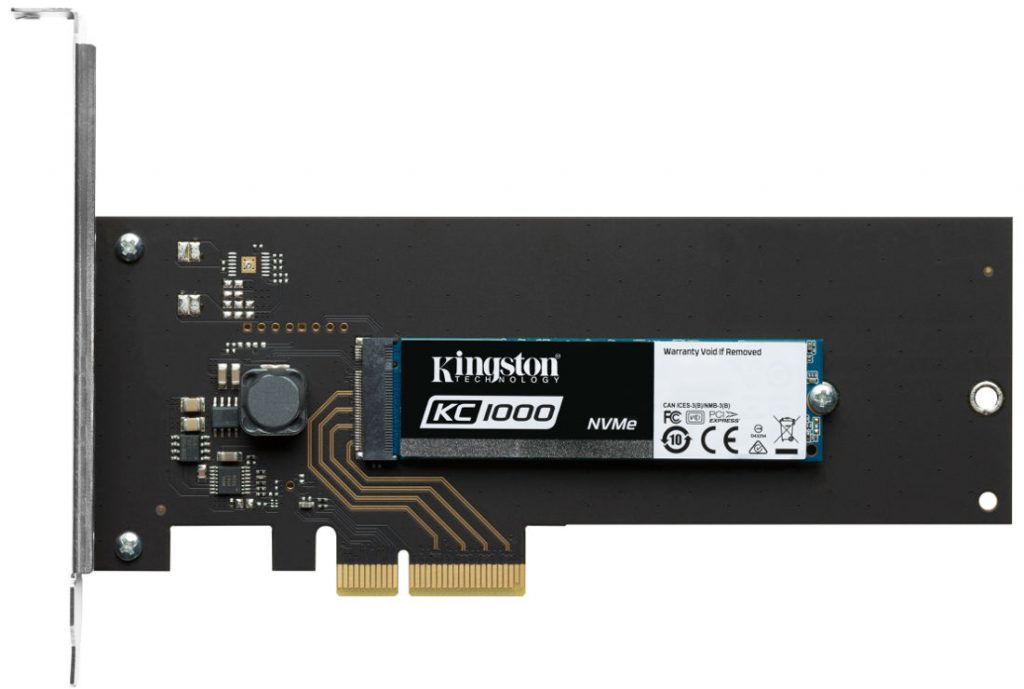 Kingston KC1000 NVMe SSD with adapter