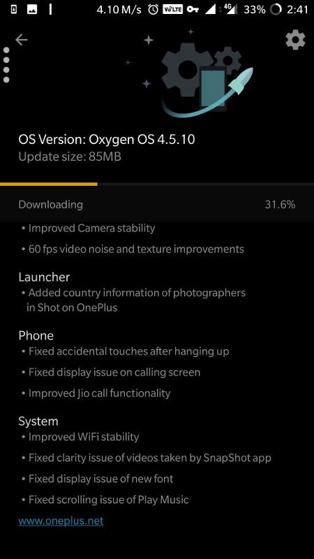 OnePlus 5 OxygenOS 4.5.10