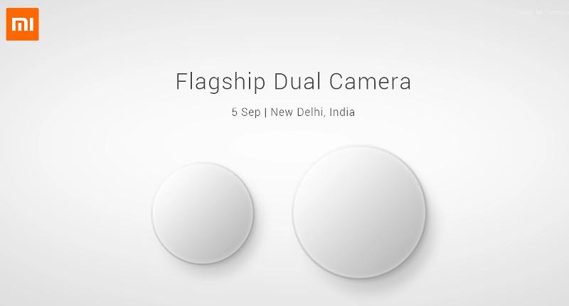 Xiaomi Dual Camera September 5 event India