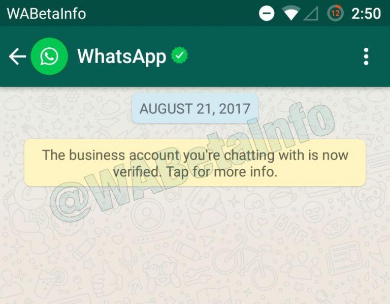whatsapp verifid