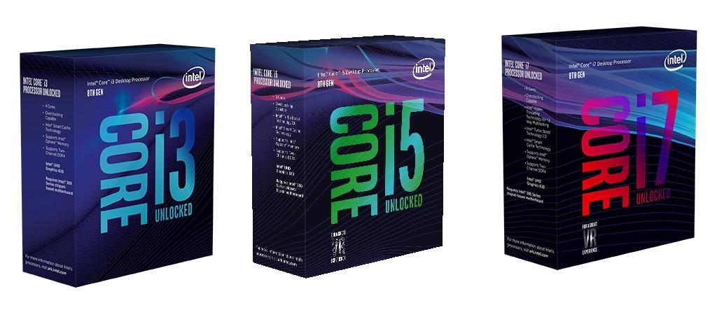 Intel 8th Core i3, i5 and i7 Desktop processors