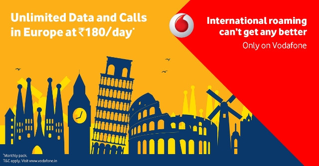 Vodafone Unlimited Roaming Pack Europe